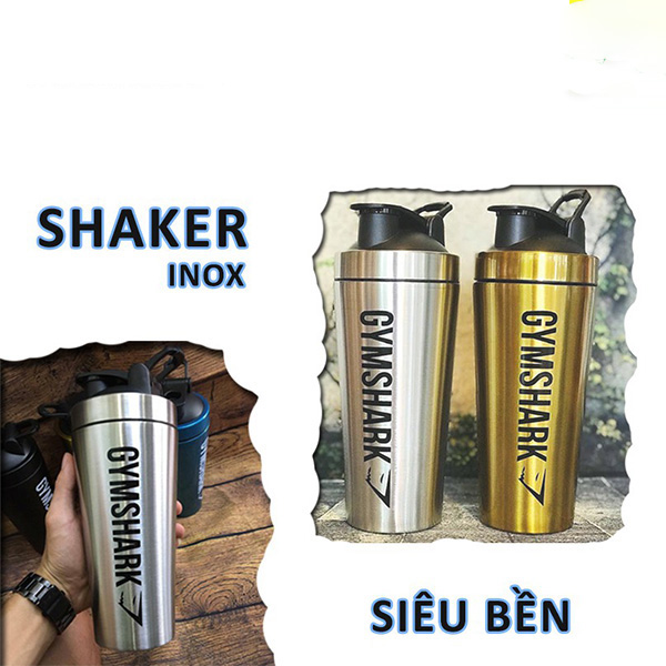 Bình Lắc Shaker Bình Nước Inox Gymshark