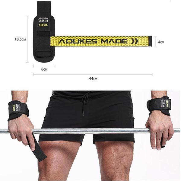 Dây Kéo Lưng Tập Gym Bản Cải Tiến Aolikes Lifting Straps