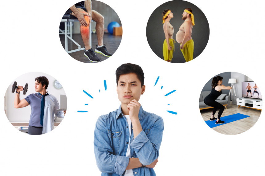 Poster fitness cách tập gym tại nhà
