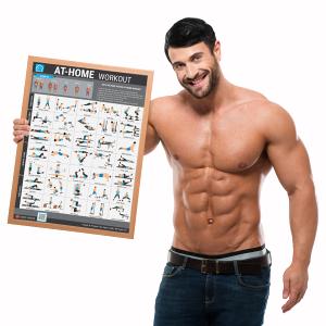 Poster Fitness At Home Workout hướng dẫn tập GYM tại nhà