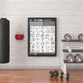 Poster fitness hướng dẫn tập gym tại nhà