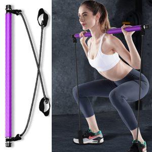 Thanh Tập Stick Yoga Pilates Bar Có Dây Kháng Lực Tập  Toàn Thân Đa Năng