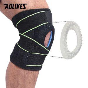 Băng Bảo Vệ Đầu Gối 4 Lò Xo Hỗ Trợ Chơi Thể Thao Sport Knee Support