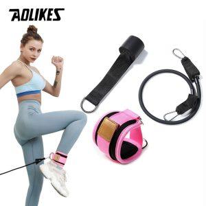 SET Dây Kháng Lực Tập Mông AOLIKES Có Quấn Cổ Chân Legs Pulley Strap Lifting Fitness