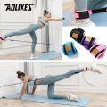 SET Dây Đàn Hồi Tập Mông AOLIKES Có Quấn Cổ Chân Legs Pulley Strap Lifting Fitness